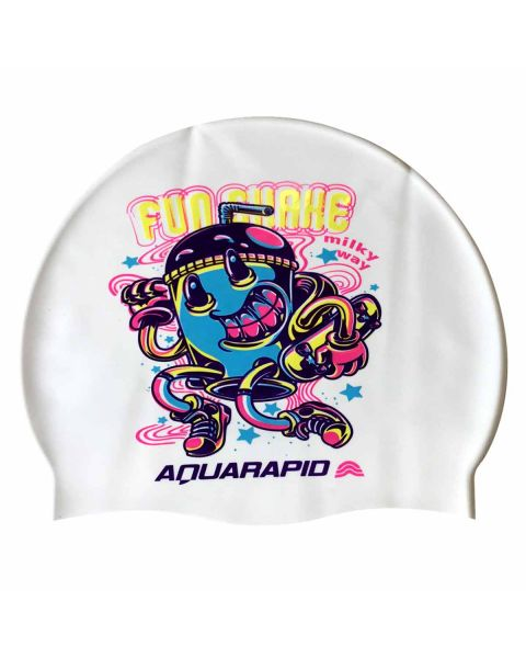Aquaraid Fun Shake Bonnet De Natation En Silicone - Blanc