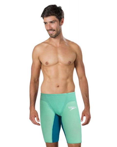 Speedo Men's Fastskin LZR Pure Valor Jammer - Green Glow / Nordic Teal