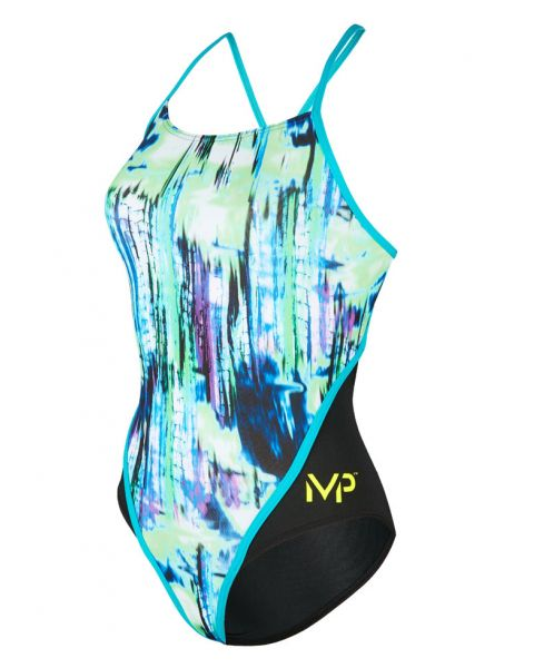 MP Michael Phelps Womens Freeze Racer Back Swimsuit