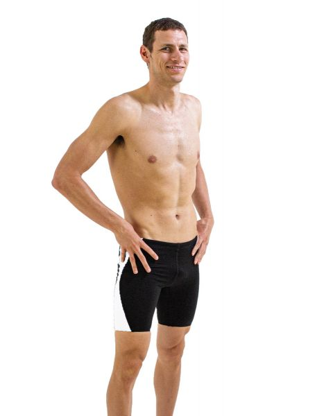 FINIS Men's Splice Jammer - Black/ White