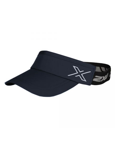 2XU Unisex Performance Visor - Midnight / Hvid