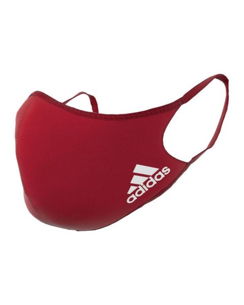 Adidas Face Cover 3 Pack - Red - Size M/L