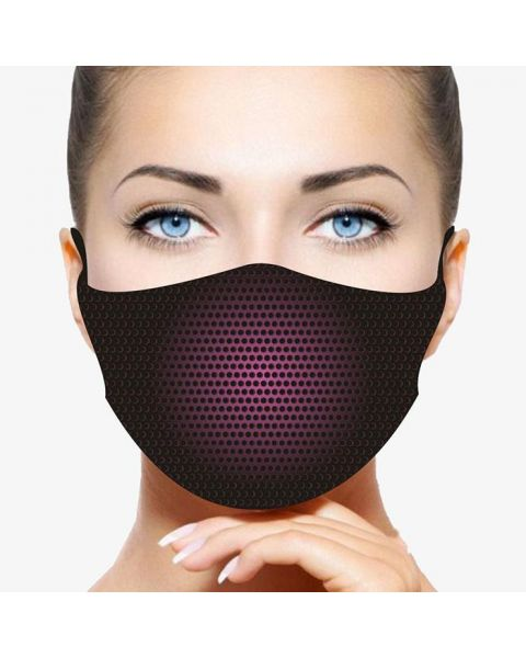 Stay Safe Face Mask -  Pink Shadow