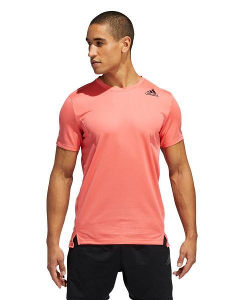 Adidas Mens Heat.Rdy Training T-Shirt - Semi Flash Red