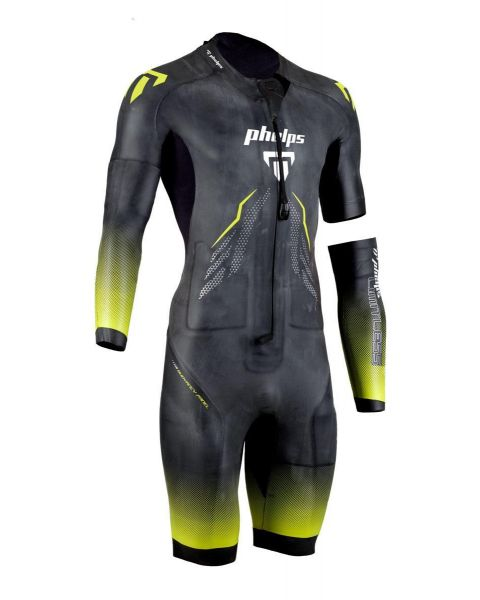 Phelps Men's Limitless SwimRun Wetsuit - Black / Yellow