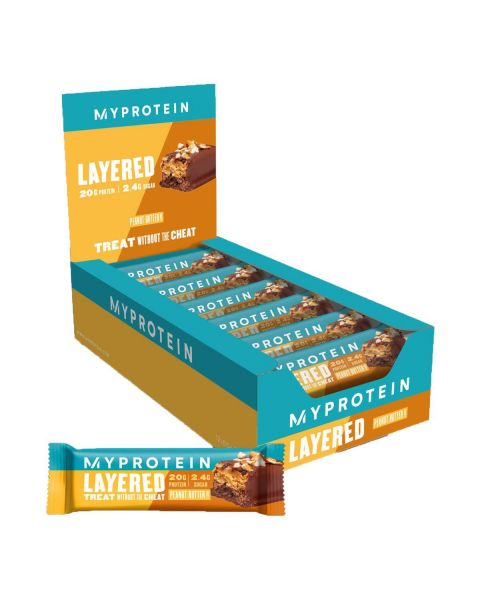 Myprotein Retail Layer Bar 12 x 60g Peanøttsmør