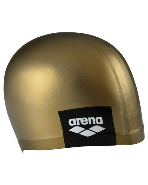 Arena Logo Bonnet De Natation Moulé - Or