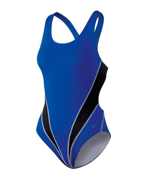 Beco Femme Tight Fit Cut Out Maillot De Bain - Bleu / Noir