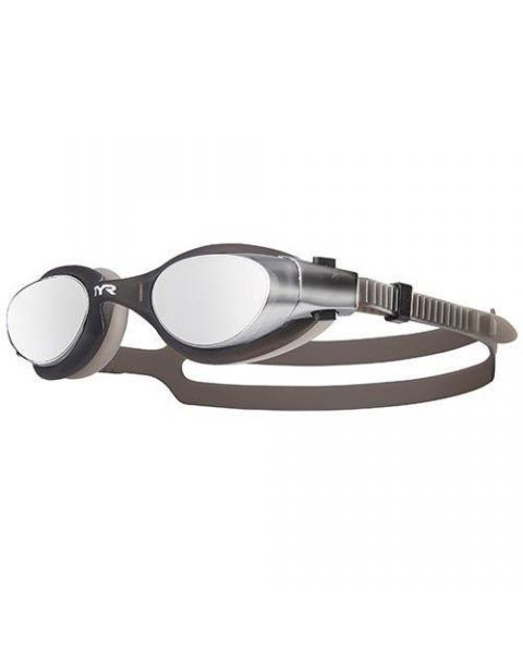 TYR VESI Mirrored Goggle - Metallic Silver / Black