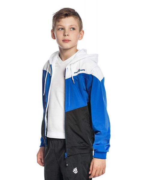 Mad Wave unisexo Junior Pro Chaqueta - Blanco / Azul