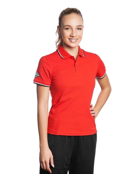 Mad Wave Women's Solid Polo - Red