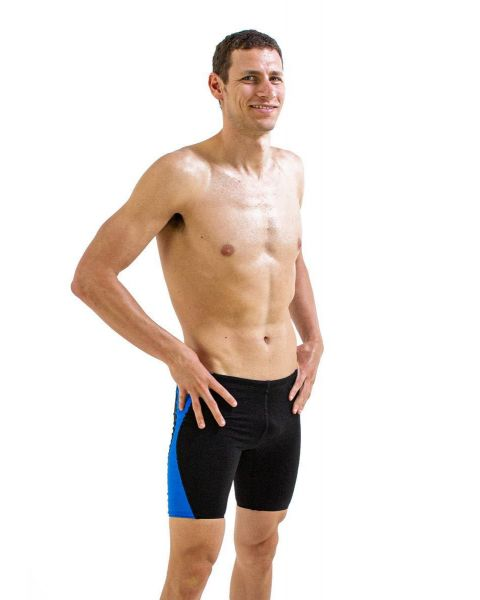 Finis Men's Splice Jammer - Black/ Blue