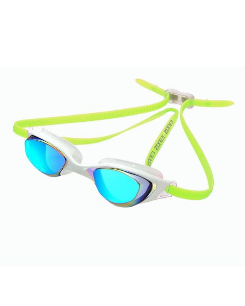 Zone3 Aspect Mirrored Goggle - White/Lime