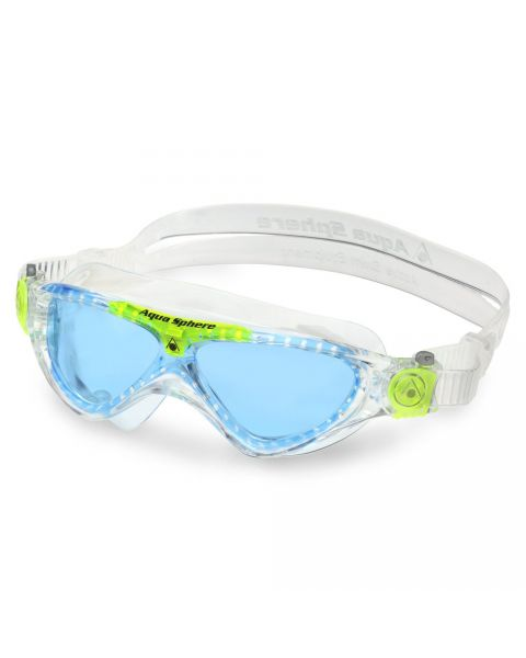 Aqua Sphere Vista JR Blue Lens Goggle - Clear / Lime