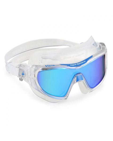 Aqua Sphere Vista Pro Swim Mask - Clear / Blue