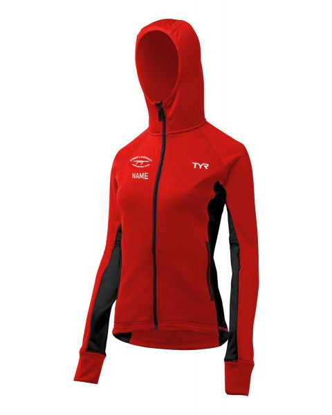 Street & District Female TYR Warm up Jacket - Red