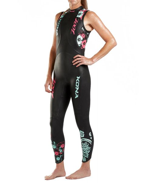 Zoot Women's Kona Sleeveless Wetsuit - Pink / Mint