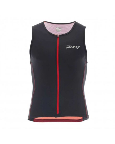 Zoot Men's Performance FZ Tri Tank - Race Day Red Stripe