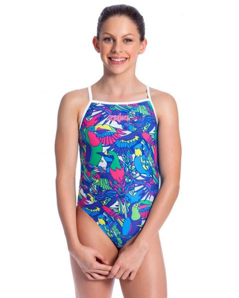 Zealous Girls Soaring Skies One Piece Swimsuit