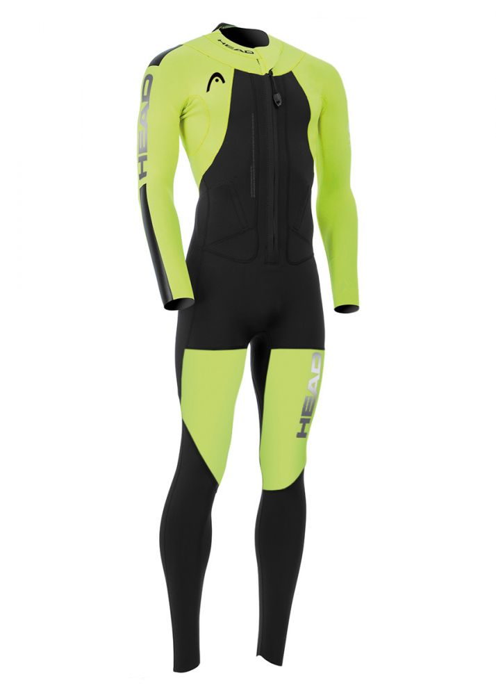 For combination of Swimming and Running Mens Swimrun Rough Wetsuit Head
