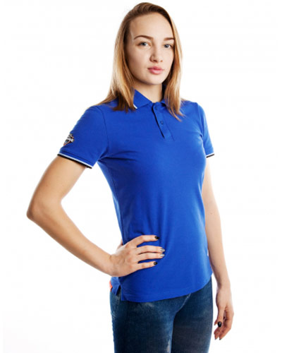 Mad Wave Womens Polo Shirt Blue