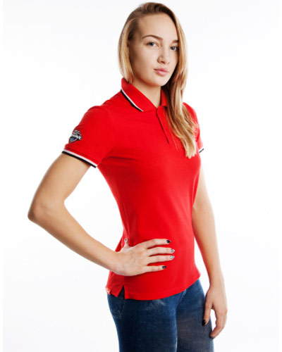 Mad Wave Womens Polo Shirt Red