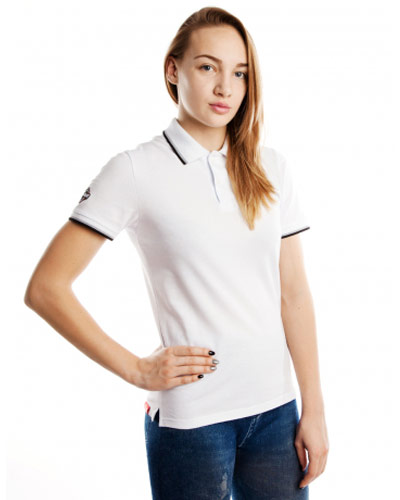 Mad Wave Womens Polo Shirt White