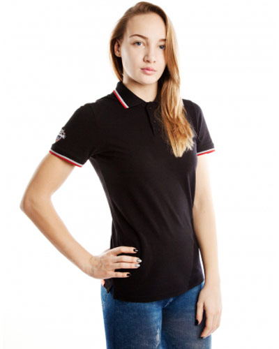 Mad Wave Womens Polo Shirt Black