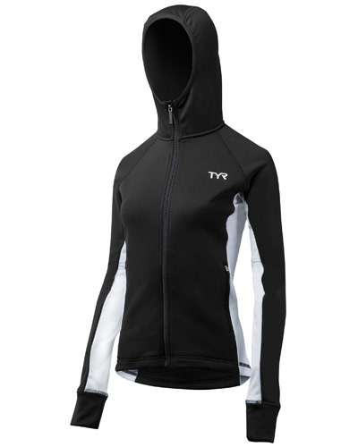 TYR Ladies Hooded Top Black