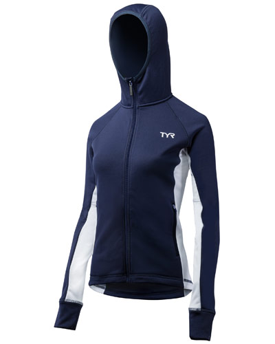 TYR Ladies Hooded Top Navy