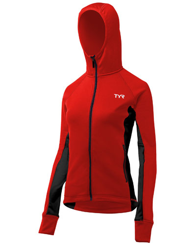 TYR Ladies Hooded Top Red