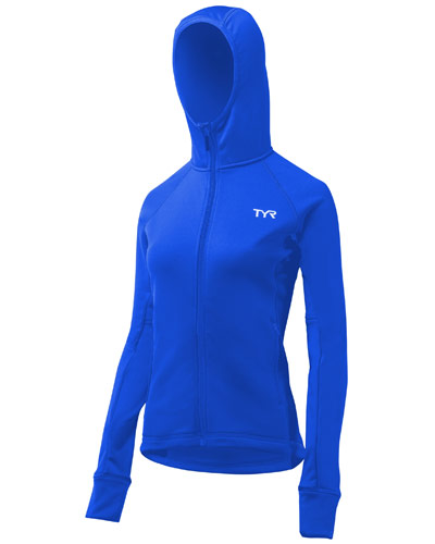 TYR Ladies Hooded Top Royal Blue