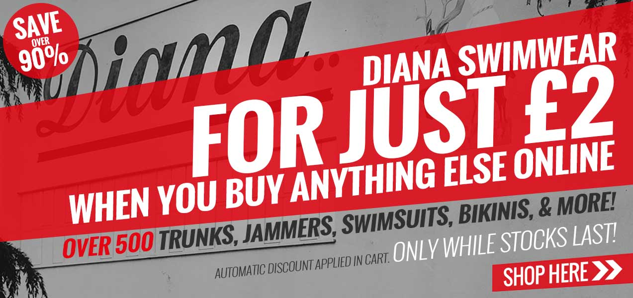 Selected Diana Swimsuits For £2 When You Buy Anything Else Online!